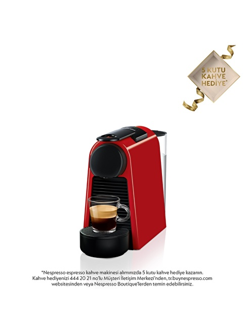 Nespresso Essenza Mini D 30 Kahve Makinesi Kırmızı